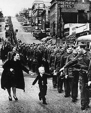 'Wait for me, daddy' by Claud Detloff. New Westminster, 1940.