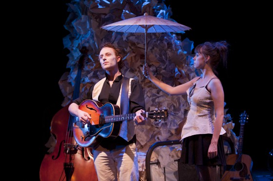 2011 production of Chelsea Hotel. Steve Charles & Lauren Bowler, image David Cooper.