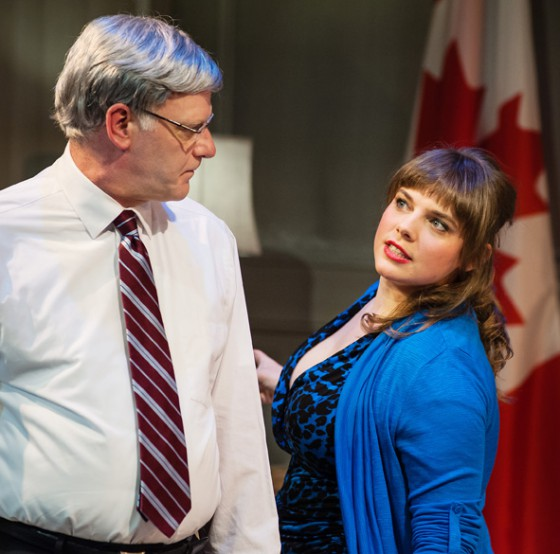 Andrew Wheeler & Emmelia Gordon in the 2014 production of PROUD, image Pink Monkey Studios.